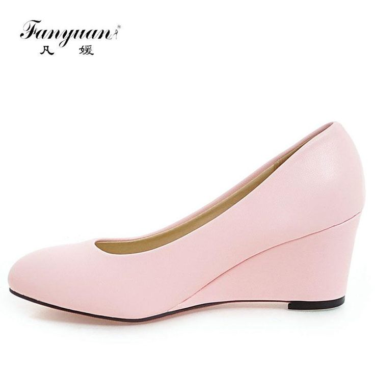 Women Casual Wedges Court Shoes Increasing Heels