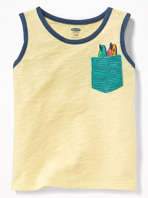 20182024 Surf-Graphic Pocket Tank for Toddler Boys | POCKET TROMPE | Toddler ...