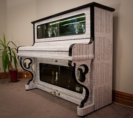 Upcycled Piano Stripped Out And Converted Into A China