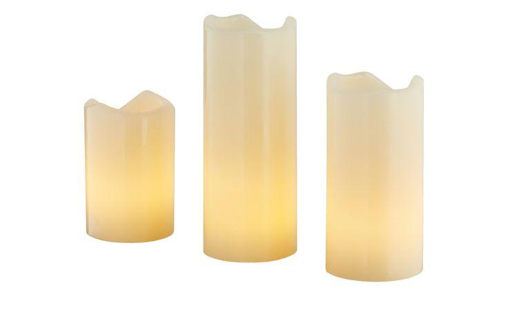 3er Set LED-Wachskerzen | Möbel Höffner