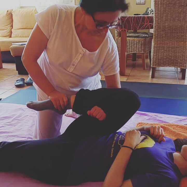 Mother and daughter sharing the art of traditional thai massage. #thaimassage #bodywork #healing #yogamassage #yogapractice #stretching #mom #mother #motheranddaughter