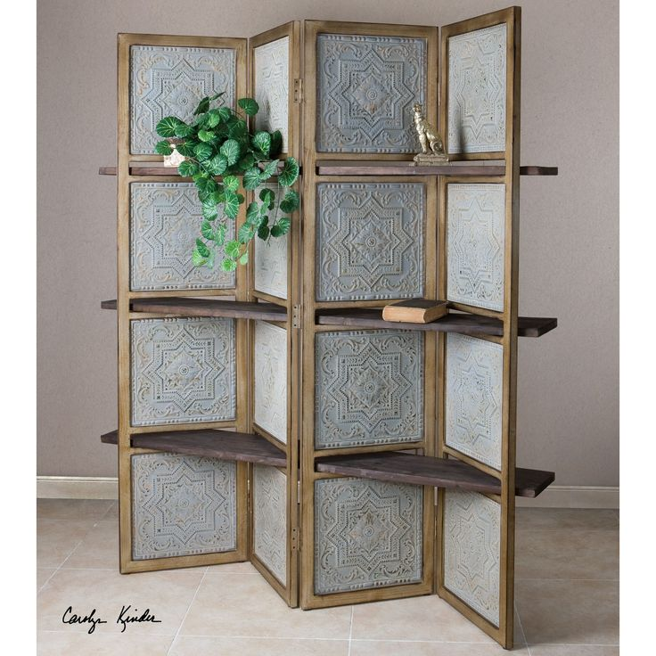 "Uttermost Anakaren 71"" x 70"" 4 Panel Room Divider"