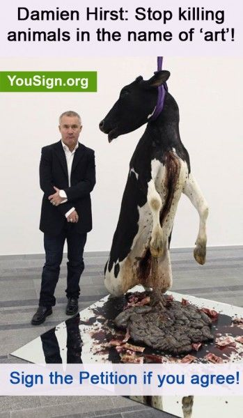 Petition   Damien Hirst should be arrested for animal abuse.   English