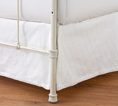Reeve Matelasse Organic Daybed Bed Skirt in Smoke - Pottery Barn $59.99