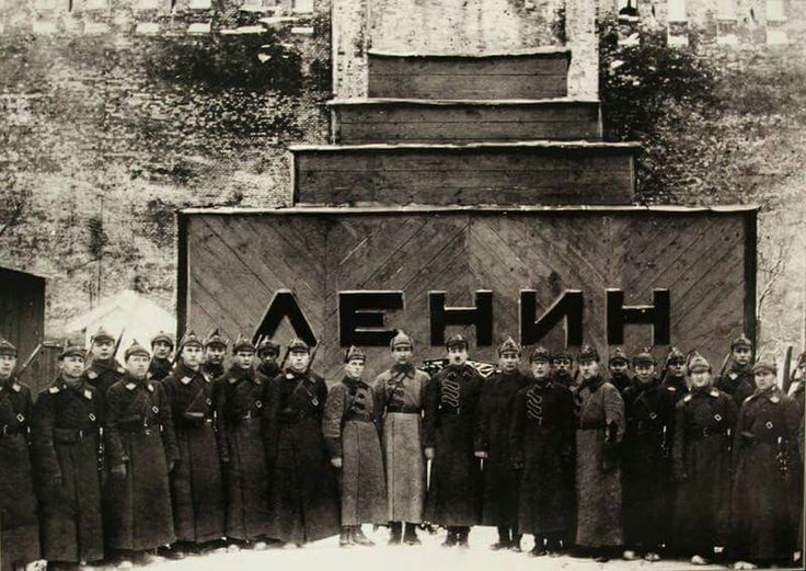 A Guard of the 1st Soviet United military school of RKKA named Central Executive Committee for the protection of the temporary Lenin's mausoleum. 1924 #RedArmy #school #Lenin #mausoleum #Kremlin