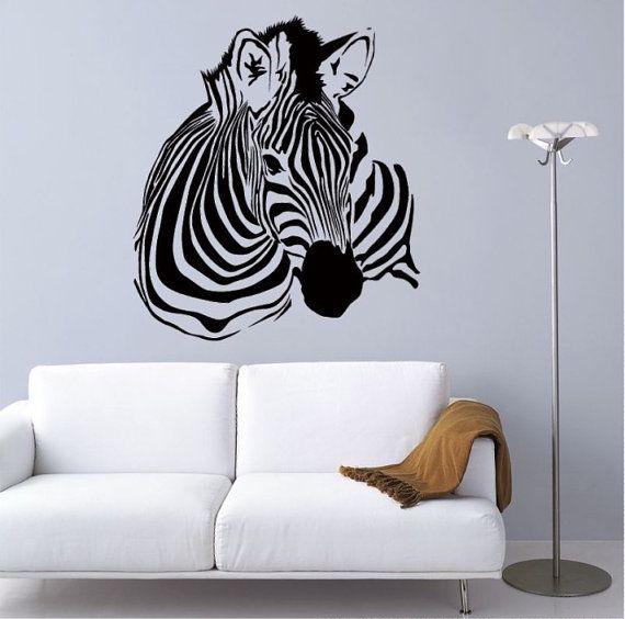 Zebra Wall Decal U2022 Safari Decal U2022 Animal Decal U2022 Zebra Wall Decor U2022 Animal  Wall