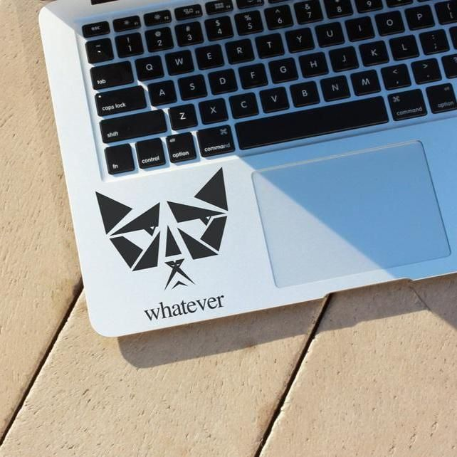 'Whatever' Cat MacBook Palm Rest Decal