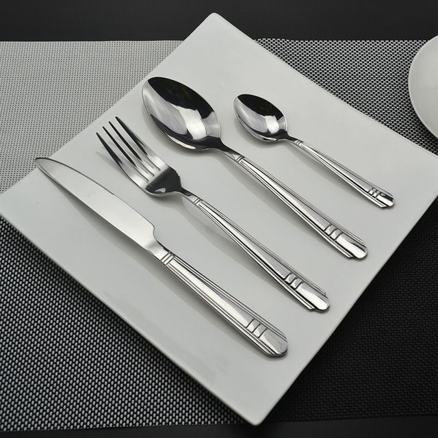 Check lastest price 16 Pcs Eco-Friendly Stainless Steel Dinnerware Sets Silverware Fork Knife Concise Western Engraving Restaurant Tableware just only $33.15 with free shipping worldwide  #dinnerware Plese click on picture to see our special price for you