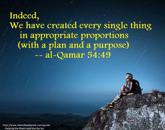 al-Qamar 54:49 as rendered by Dr. Munir Munshey