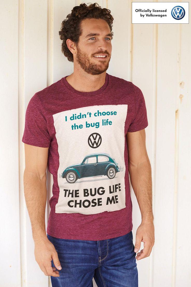 Shirt design online uk - Buy Burgundy Vw Beetle T Shirt From The Next Uk Online Shop