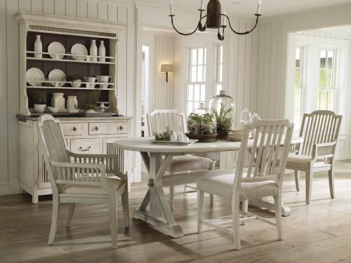 Dining Room Inspiring Classic White Ideas With Wooden Ellipse Table Hard Wood Floor Also Chairs And Storage Cabinets For Diningware Barware
