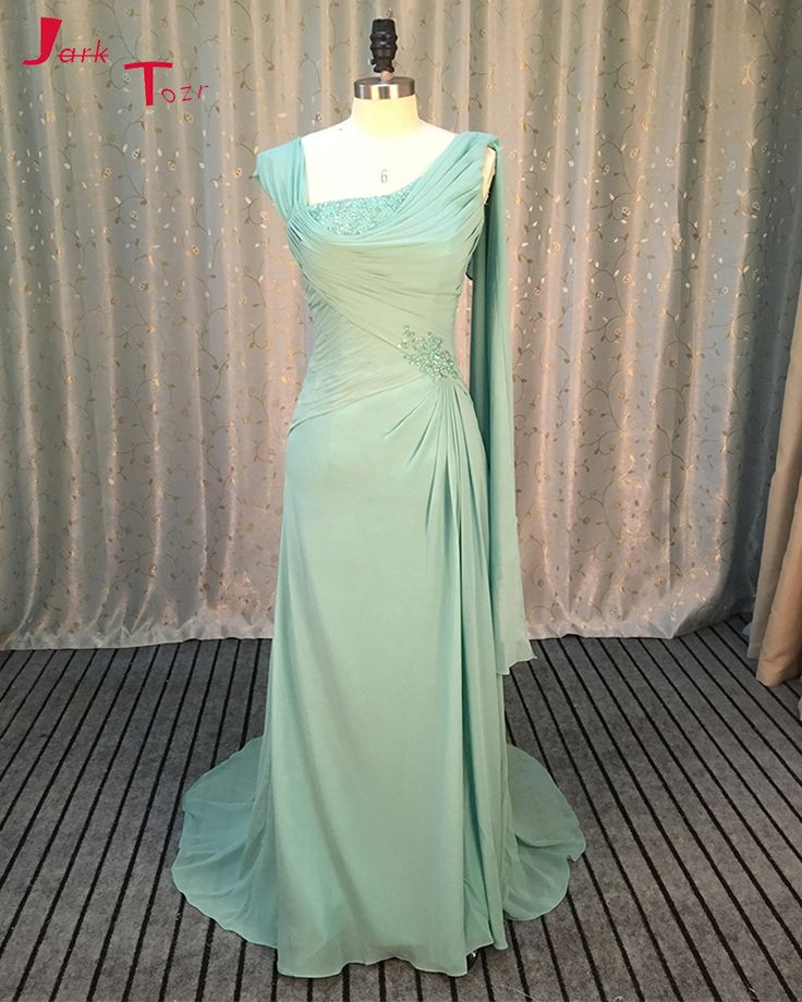 Jark Tozr Custom Made Chiffon Formal Gowns Long Robe De Soiree Beading Sequin Slim Elegant Evening Dress Online Shop China Abiye #Affiliate