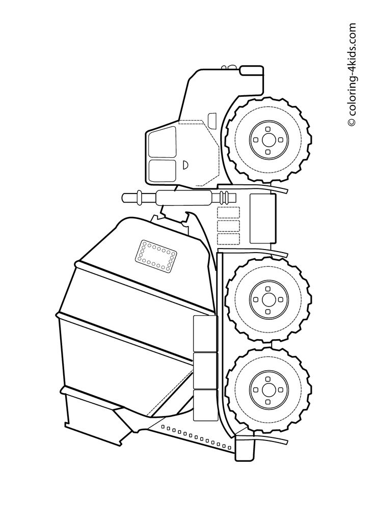 Cement Truck Coloring Pages Concrete Truck Coloring Pages