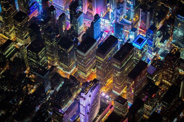 Les villes américaines comme vous ne les aviez jamais vues auparavant : depuis le ciel en pleine nuit | Buzzly
