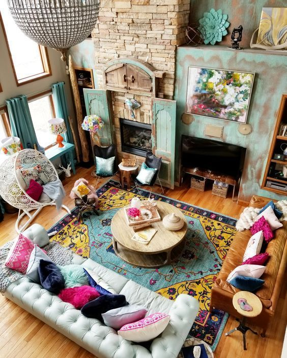 12 Amazing Style Of Hippie House With Cheerful Color Heart Of A