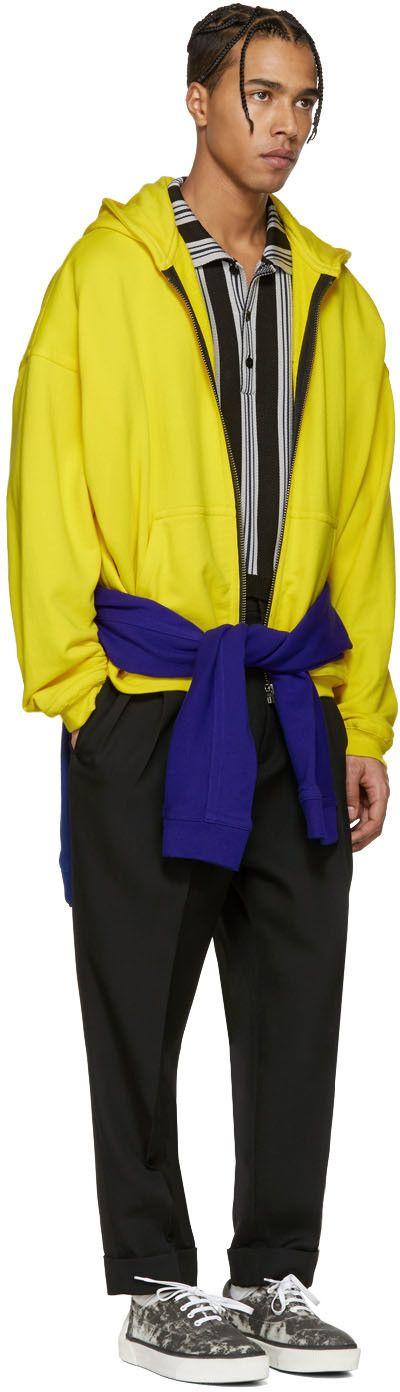 Haider Ackermann - Yellow Zip-Up Hoodie