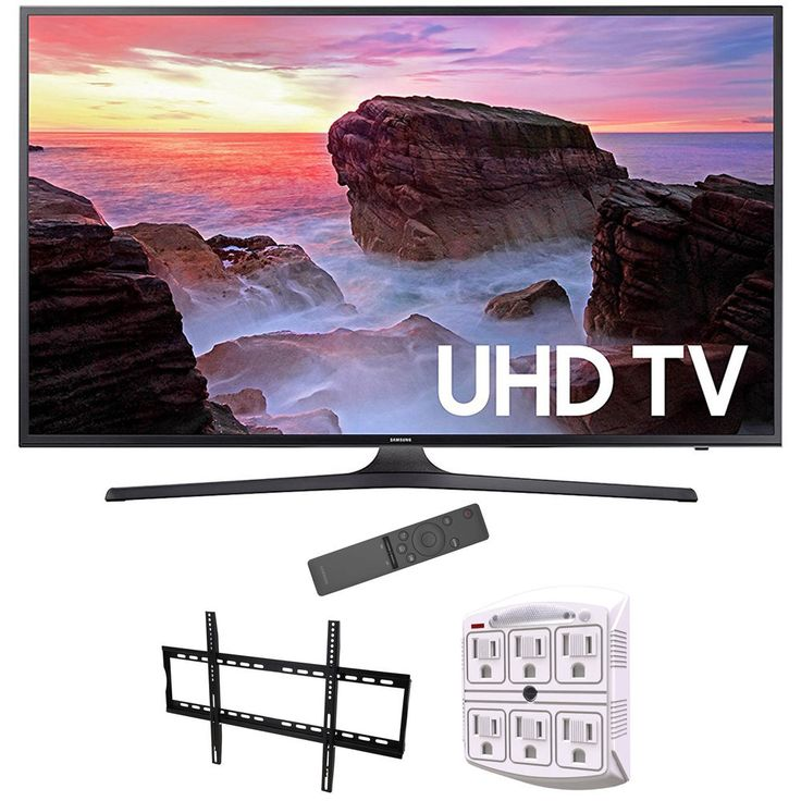 Samsung 65 4K Ultra HD Smart LED TV 2017 Model Wall Mounting Bundle