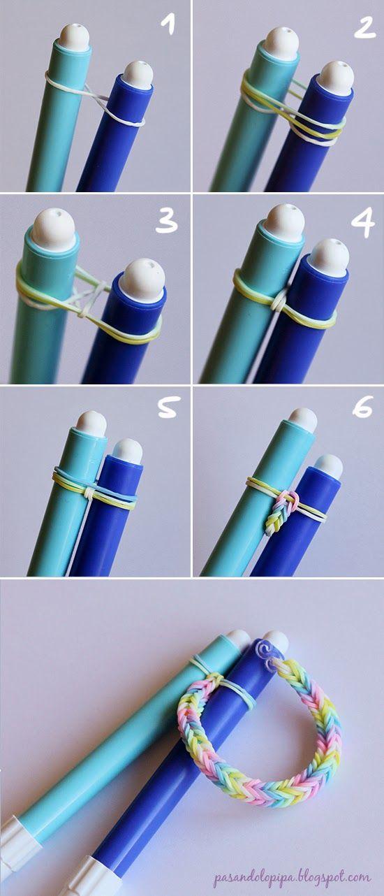 pasandolopipa   DiY Loom bands o pulseras de gomitas (paso a paso)