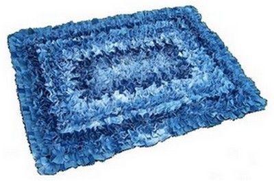 alfombra denim completado del hecha de mezclilla reciclada