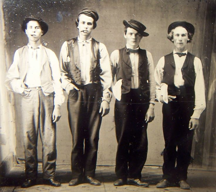 Left to Right.  Billy the Kid, Doc Holliday, Jesse James & Charlie Bowdre.