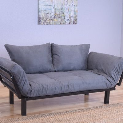 Everett Black Convertible Lounger Futon and Mattress - http://delanico.com/futons/everett-black-convertible-lounger-futon-and-mattress-705841635/
