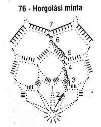 Картинки по запросу horgolt gömb minta leírással