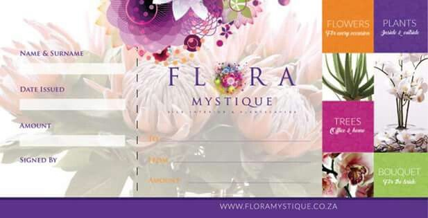Exciting news ... GIFT VOUCHERS AVAILABLE AT FLORA MYSTIQUE.