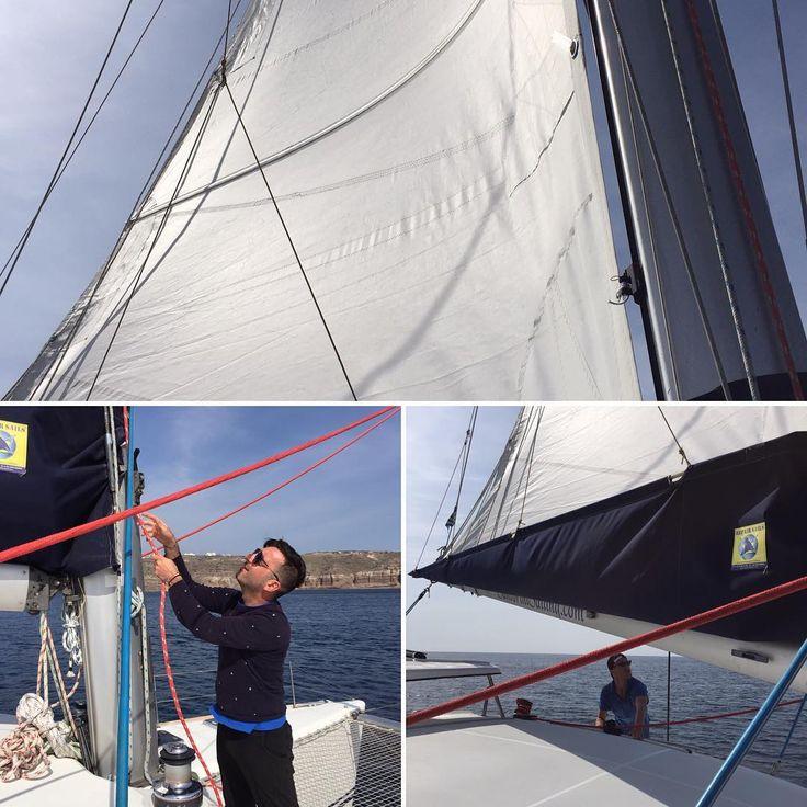 #sailing on the sea #santorinisailing #colleensgreecetrip #havingthetimeofmylife