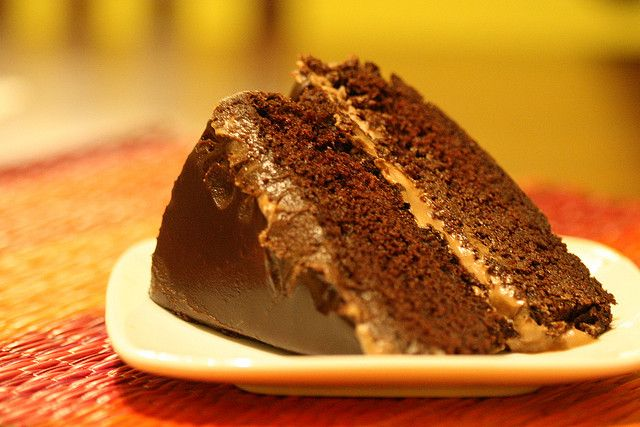 I have a huge sweet tooth right now.    Vegan chocolate cake by Post Punk Kitchen