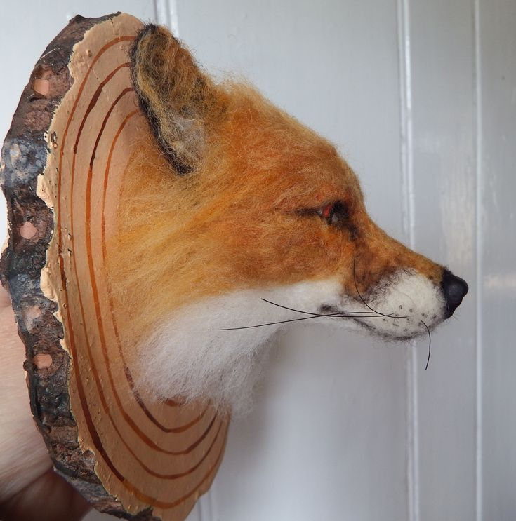 3D needle felted Fox head #ChicktinCreations