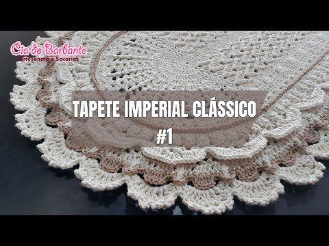 Passo a Passo Tapete Russo redondo de Crochê  (Parte 2) - YouTube