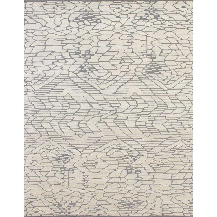 Lorraine Ivory/Grey - (9' x 12')