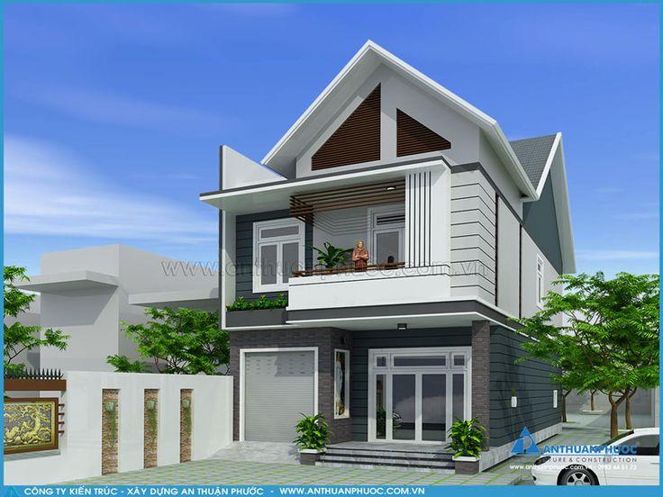 NP25 – Mẫu thiết kế nhà phố đẹp 1 trệt 1 lầu