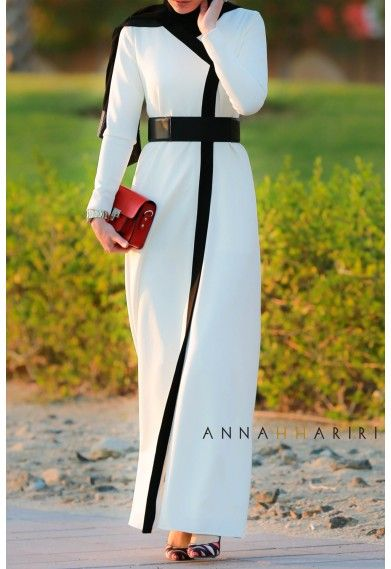 Sophisticated Business casual and classy elegant evening outfit. I must have this!  http://www.annahariri.com/en/dresses/tobe-abaya.html