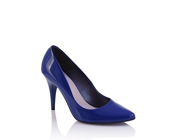 Gianmarko czółenka niebieskie lakier 070/1 (0)