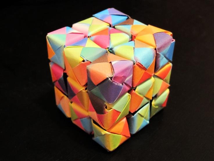 origami rubik cube anyone arts amp crafts pinterest