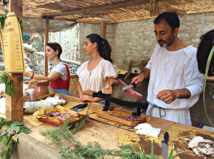 A scene from Vicopisano's annual Medieval festival held during the first weekend of September