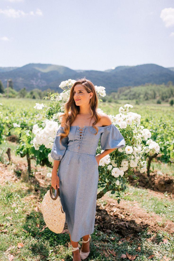 Gal Meets Glam Bastide De Marie & Lacoste, Provence -  Sea dress, Castaner espadrilles & Kayu bag