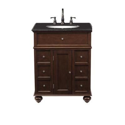 Home decorators collection hampton bay 28 in vanity in for Home decorators vanity top