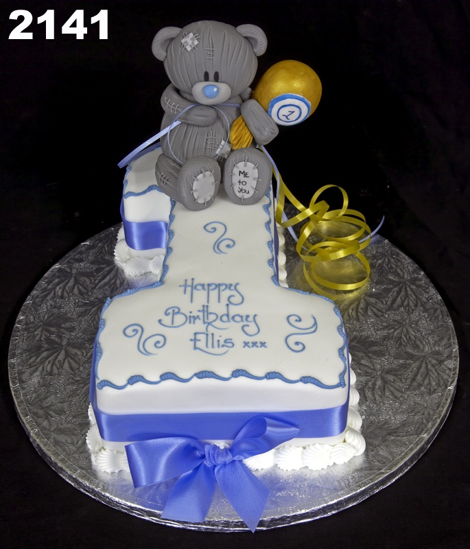 Figure One Birthday Cake with Handmade Sugarpate Me 2 You Bear Model.jpg 685×800 pixels