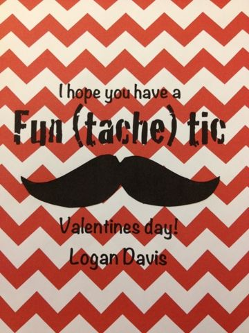 Boy's Mustache Valentine's Day Grams
