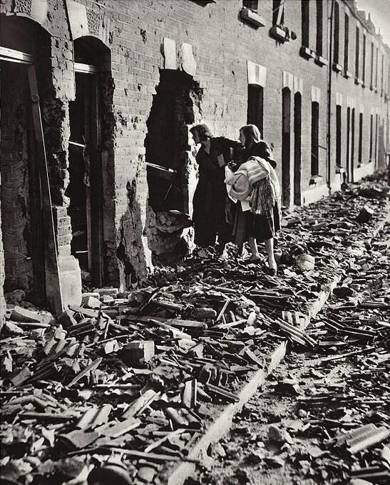 The Blitz, London 1940- tramping through the rubble.