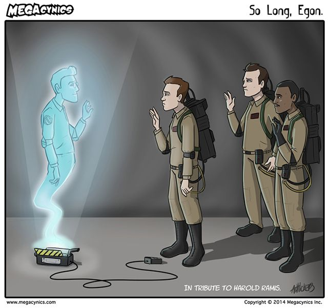 'So Long, Egon', A Touching 'Ghostbusters' Comic Tribute to the Late Harold Ramis by Ash Vickers