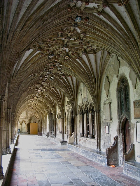 Wandered throught the cloisters at Canterbury Cathedral.