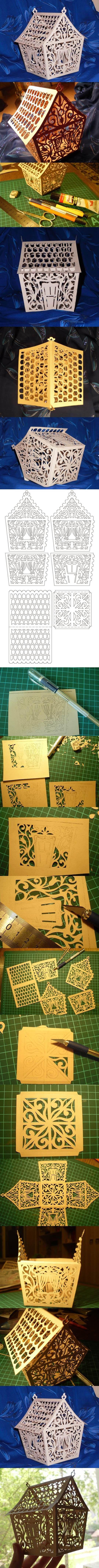 DIY Openwork Paper House | iCreativeIdeas.com LIKE Us on Facebook ==> https://www.facebook.com/icreativeideas