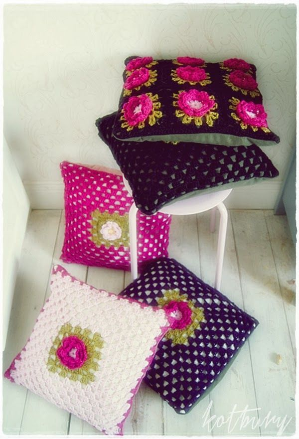 Crochet cushion inspiration