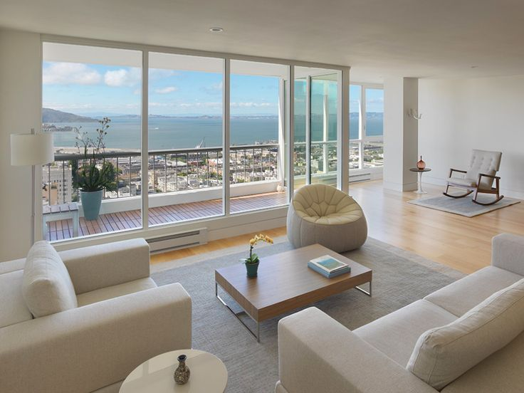 Interior:Minimalist Condominium Ideas With Stunning San Francisco Bay Views Plan On Russian Hill With Wonderful Interior Design Architecture...