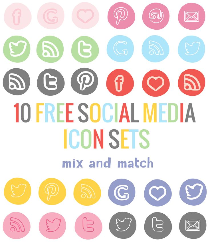 10 Free Social Media Icon Sets - use alone of mix and match!