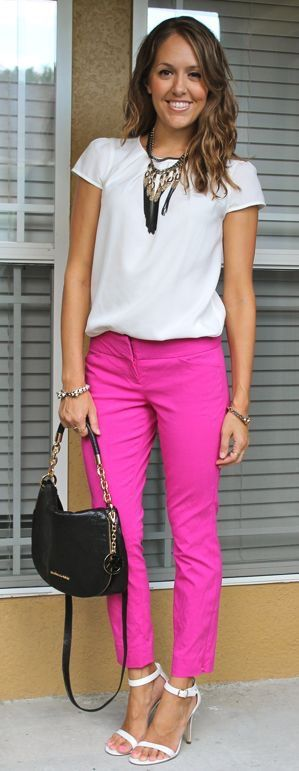 Not in hot pink but these pants