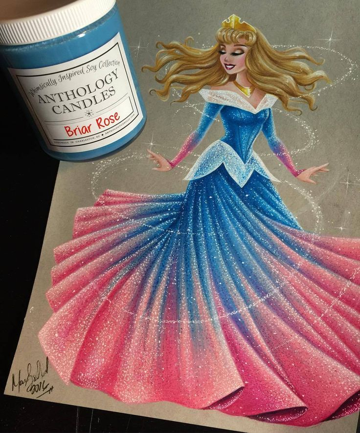 Aurora - Disney Princess Drawings by Max Stephen